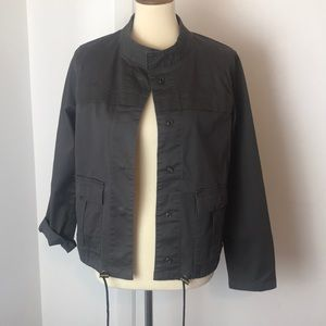 Sanctuary Charcoal Gray Military Style Jacket NWT